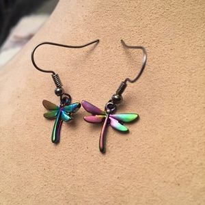 🔴Rainbow Dragonfly Earrings